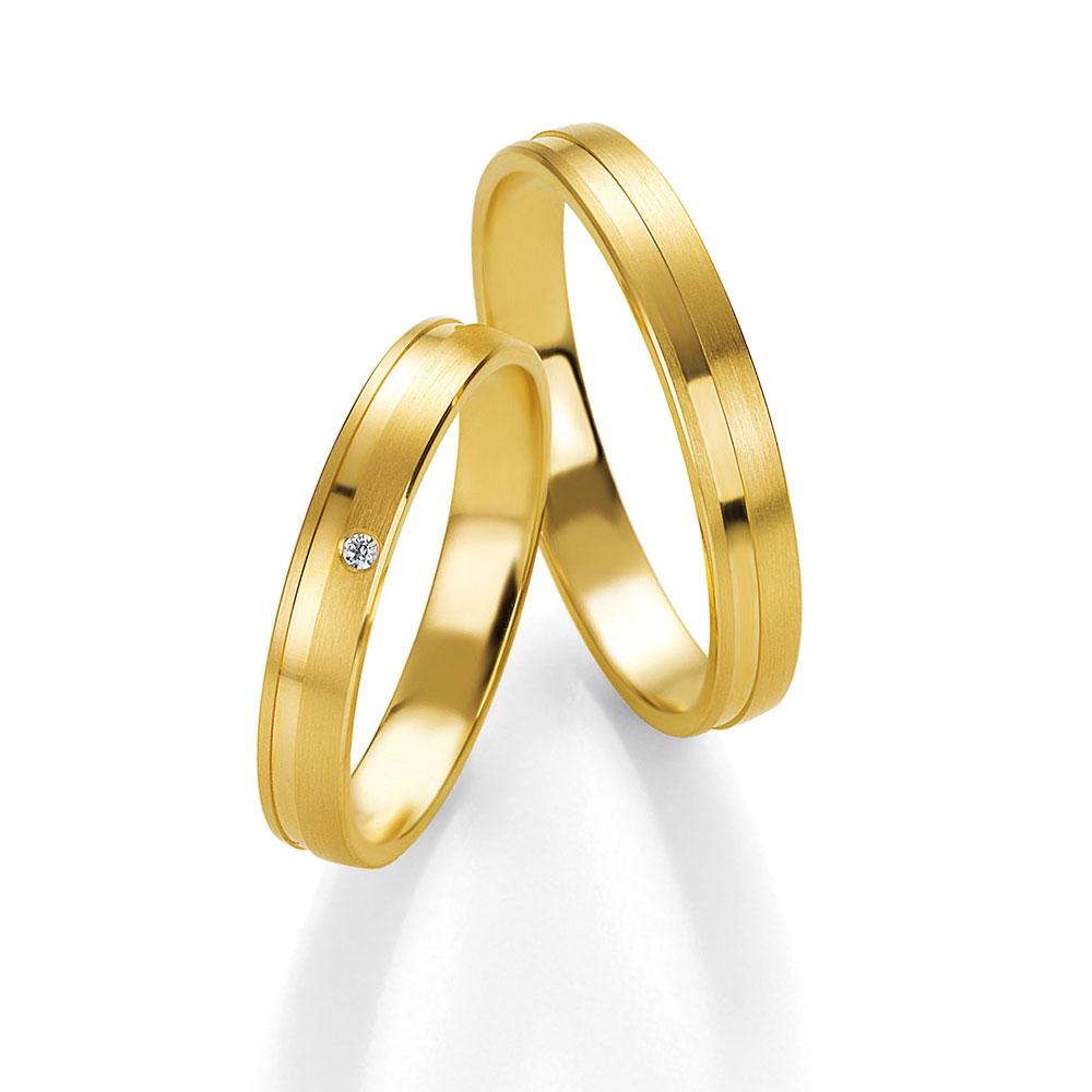 36eec93eefbe Χρυσές Βέρες Γάμου   Αρραβώνα K14 Benz Collection 013-014 by Breuning