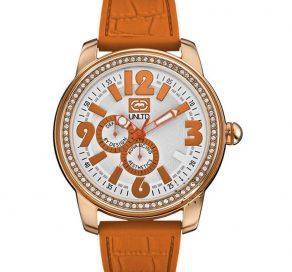 Γυναικείο Ρολόι Marc Ecko Crystal The Miami με Πορτοκαλί Λουράκι