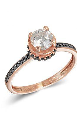 Ροζ Χρυσό Μονόπετρο Δαχτυλίδι