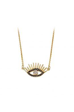 Γυναικέιο Χρυσό Κολιέ Eye
