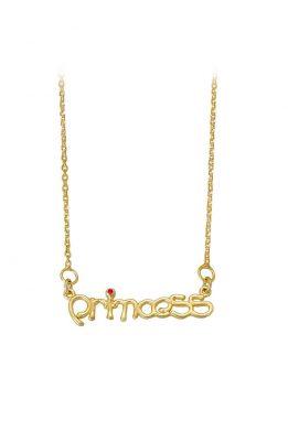 Γυναικέιο Χρυσό Κολιέ Princess