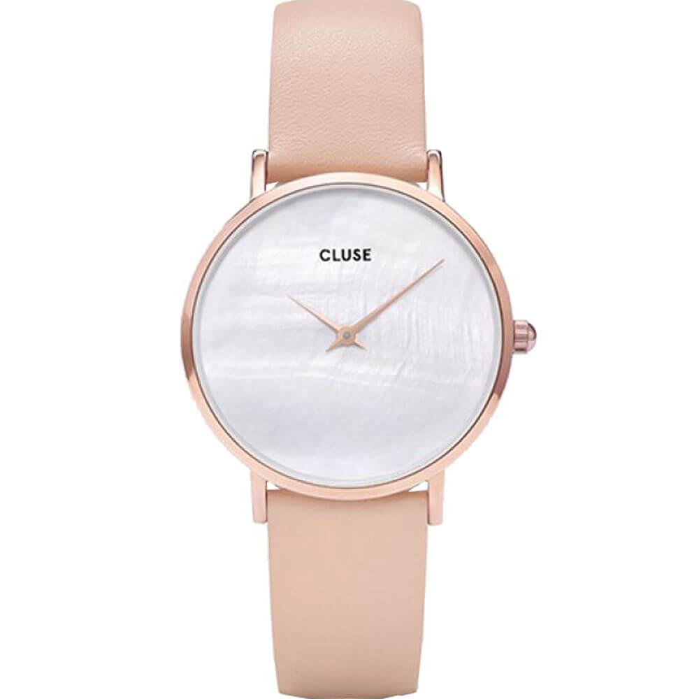 Γυναικείο Ρολόι CLUSE Minuit La Perle Με Ροζ Δερμάτινο Λουράκι ... 45ab66e5213