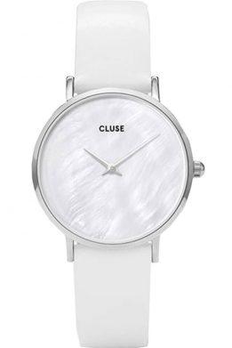 Γυναικείο Ρολόι CLUSE Minuit La Perle Με Λευκό Λουράκι