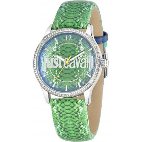 Ρολόι JUST CAVALLI Με Πράσινο Λουράκι Και Πράσινο Καντράν - XrisiGonia c4f297459e6