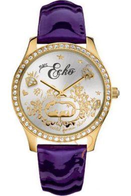 Ρολόι MARC ECKO Με Μοβ Λουράκι Και Χρυσό Καντράν