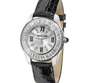 Ρολόι ROBERTO CAVALLI Diamond Time Με Μαύρο Μπρασελέ