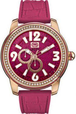 Ρολόι MARC ECKO Miami Crystals Με Φούξια Λουράκι