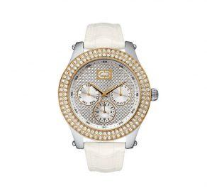 Ρολόι MARC ECKO The Gold Small Με Λευκό Λουράκι