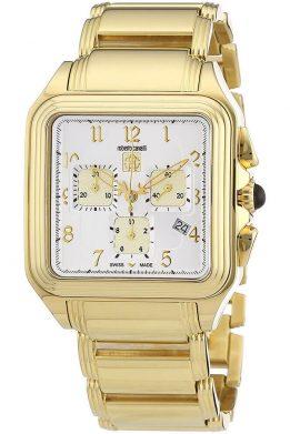 Ρολόι ROBERTO CAVALLI Με Χρυσό Μπρασελέ
