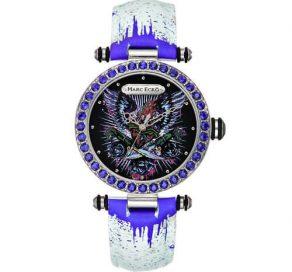 Ρολόι MARC ECKO Crystal Black Graffiti Με Λευκό Λουράκι