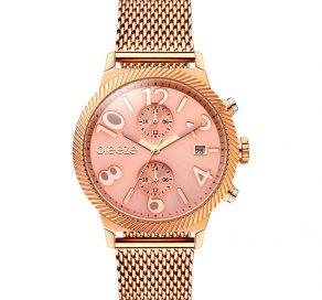 Γυναικείο Ρολόι BREEZE Bellatrix Multifunction Με Ροζ Χρυσό Μπρασελέ