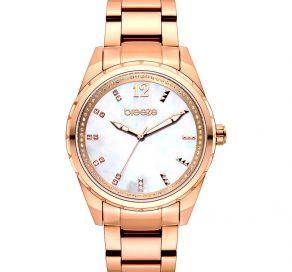 Γυναικείο Ρολόι BREEZE Estelle Crystals Με Ροζ Χρυσό Μπρασελέ
