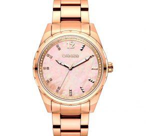 Γυναικείο Ρολόι BREEZE Estelle Crystals Με Ροζ Χρυσό Μπρασελέ Και Ροζ Καντράν