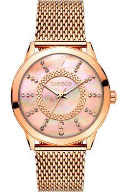 Γυναικείο Ρολόι BREEZE Essensia Crystals Σε Ροζ Χρυσό Χρώμα