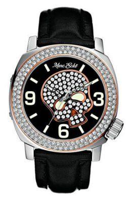 Ρολόι MARC ECKO Skull Με Μαύρο Λουράκι Και Μαύρο Καντράν