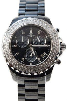 Ρολόι VOGUE Black Ceramic Με Μαύρο Μπρασελέ