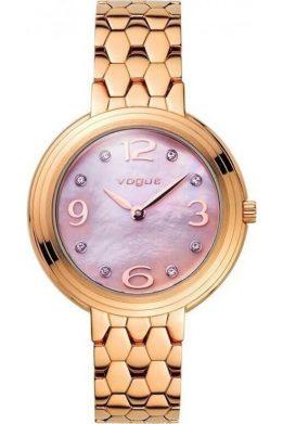 Ρολόι VOGUE Pretty Woman Crystals Με Ροζ Χρυσό Μπρασελέ