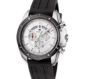 Ρολόι VOGUE Silver Με Μαύρο Λουράκι