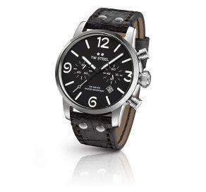 Ρολόι TW STEEL Maverick Steel Chrono Με Μαύρο Λουράκι