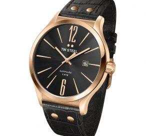 Ρολόι TW STEEL Unisex Slim Line Watch Με Μαύρο Λουράκι
