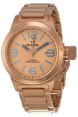 Ρολόι TW STEEL Με Ροζ Χρυσό Μπρασελέ