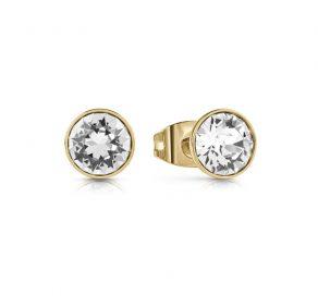 Σκουλαρίκια Απλά Guess Με Πέτρα Ζιργκόν Σε Χρυσό Χρώμα