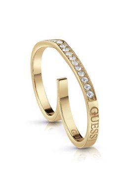 Δαχτυλίδι Guess Με Λογότυπο Σε Χρυσό Χρώμα