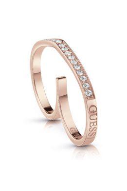 Δαχτυλίδι Guess Με Λογότυπο Σε Ροζ Χρυσό Χρώμα