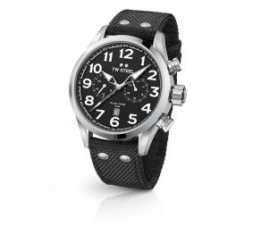 Ρολόι TW STEEL Volante Dual Time Με Μαύρο Λουράκι