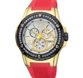 Ρολόι VOGUE Multifunction Με Κόκκινο Λουράκι
