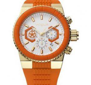 Ρολόι VOGUE Ροζ Χρυσό Με Πορτοκαλί Λουράκι