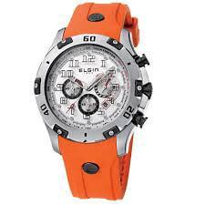 Ρολόι ELGIN Με Χρονογράφους Και Πορτοκαλί Λουράκι