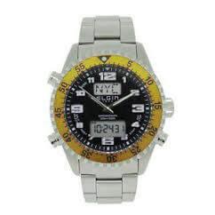 Ρολόι ELGIN Με Μπρασελέ Και Κίτρινο Περίγραμμα