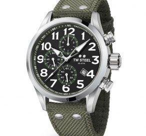 Ρολόι TW STEEL Volante Με Χρονογράφους Και Χακί Λουράκι