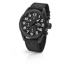 Ρολόι TW STEEL Volante Με Χρονογράφους Και Μαύρο Λουράκι