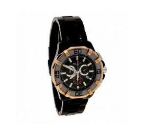 Ρολόι ELGIN Με Μαύρο Μπρασελέ