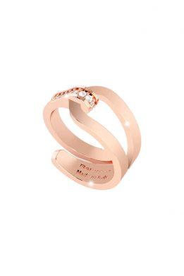 Δαχτυλίδι Rebecca Σε Ροζ Χρυσό Χρώμα Με Πέτρες