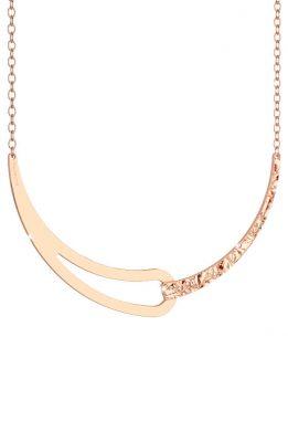 Κολιέ Rebecca Μεγάλο Σε Ροζ Χρυσό Χρώμα Με Σχέδιο