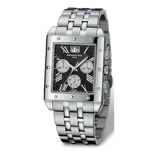 Raymond Weil Tango Black Dial Mens Watch με Ατσάλινο Μπρασελέ