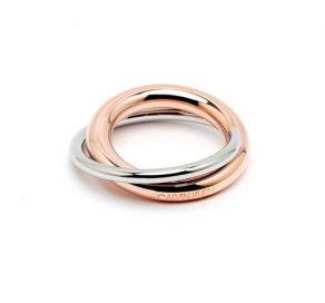 CALVIN KLEIN Double Stainless Steel Γυναικείο Δαχτυλίδι