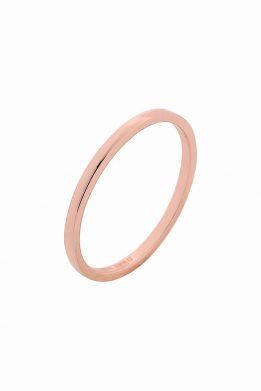 Δαχτυλίδι Βέρα Από Ροζ Επιχρυσωμένο Ασήμι