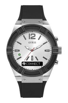 GUESS CONNECT Smart-Watch Με Μαύρο Λουράκι Σιλικόνης