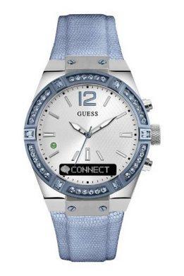 GUESS CONNECT Smart-Watch Γυναικείο Με Γαλάζιο Λουράκι Και Κρύσταλλα