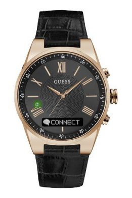 GUESS CONNECT Smart-Watch Με Μαύρο Λουράκι