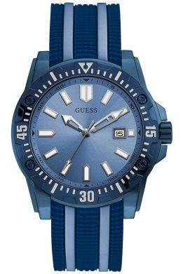 Ρολόι Guess Με Ημερομηνία Και Μπλε Λουράκι