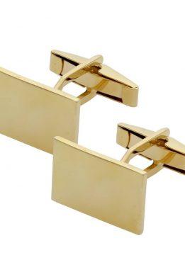 Χρυσά Μανικετόκουμπα 14Κ Ματ Τετράγωνα