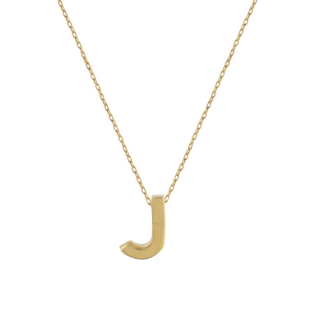 """Χρυσό Κολιέ Μονόγραμμα """"J"""""""