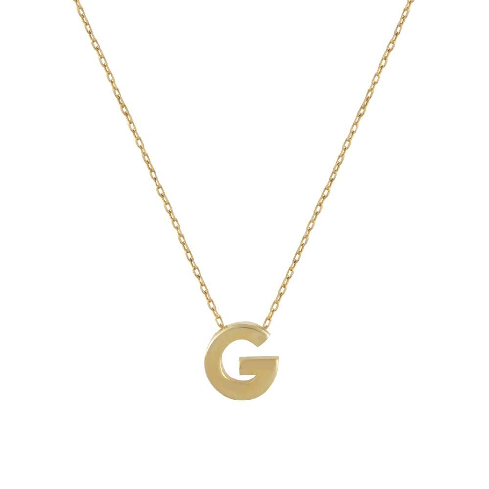 """Χρυσό Κολιέ Μονόγραμμα """"G"""""""