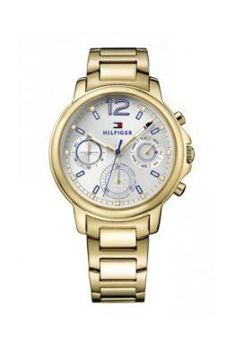 Ρολόι Tommy Hilfiger Claudia Πολλαπλών Ενδείξεων με Χρυσό Μπρασελέ