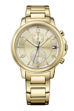 Ρολόι Tommy Hilfiger Damenuhr με Χρυσό Μπρασελέ και Ημέρα/ημερομηνία